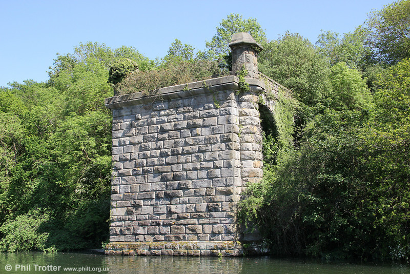 The remains of the Severn Railway Bridge abutment at Sharpness, taken from the south side of the bridge. 26th May 2012.