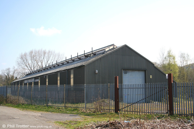 The former Abercynon loco shed on 9th April 2007. The shed was coded AYN by the GWR, or 88E by BR. It had an allocation of 27 locomotives in 1950 and closed in 1964.