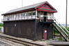 Barry Signal Box was built for the Barry Railway by Evans, O'Donnell & Co., based on a Great Eastern Design, in 1897. Photographed in June 2006.