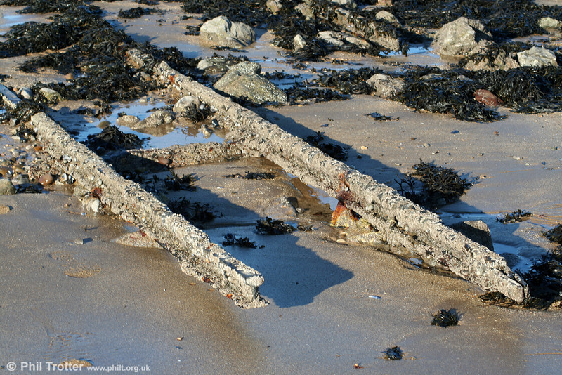 Another section of the remains of the 2ft gauge contractor's railway at Mumbles on 29th January 2006.