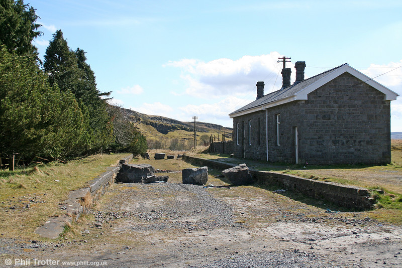 Another view of Craig y Nos/Penwyllt looking south on 14th April 2006. It has been documented that the substantial station building was funded by opera singer Adelina Patti who lived at Craig Y Nos Castle.