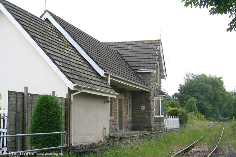Rhiwderin Station, also on the Brecon & Merthyr line, closed to passengers as long ago as 1st March 1954. Now in use as a private residence, it was photographed on 23rd June 2007.