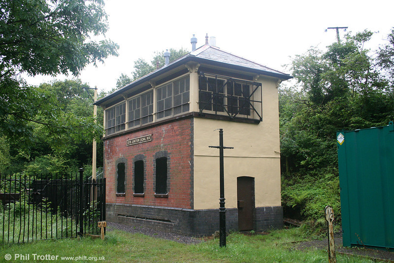 A later view of Cefn Junction Signal Box, nowadays in use as an environmental centre. The Tondu to Port Talbot line, until recently used by trains from Parc Slip opencast site, is just out of view to the left. 11th July 2009.