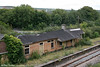 The remains of Fishguard & Goodwick Station which closed in April 1964, seen on 18th September 2010. This building has since been demolished and the station reopened.