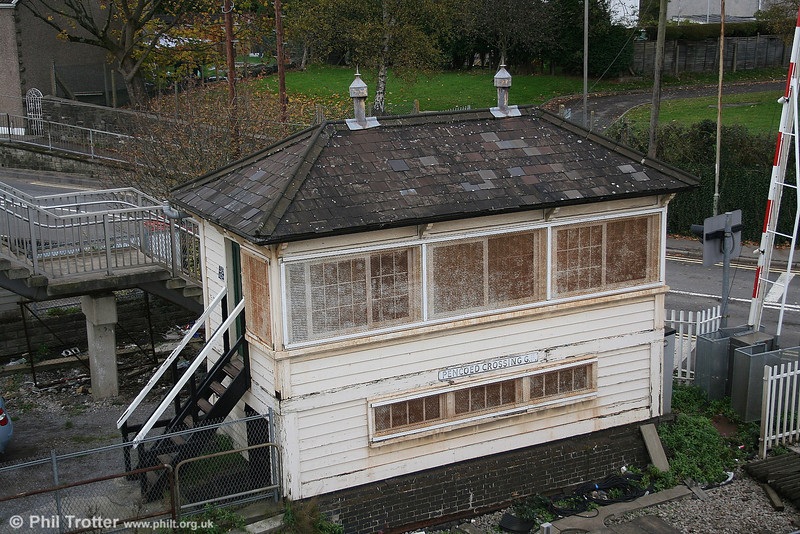 Pencoed Crossing Signal Box photographed on 11th November 2006. The box was demolished on 6th April 2007 as part of the Port Talbot East Resignalling Project.
