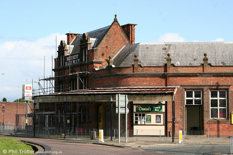 The former Mersey Railway station building at Birkenhead Central on 1st September 2008.
