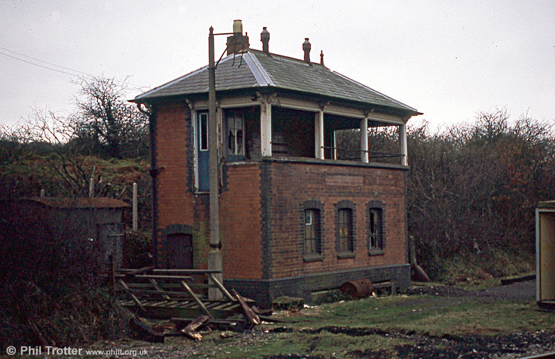 An interesting survival is Cefn Junction Signal Box, which was constructed in 1898 and controlled the junction of the Port Talbot Railway from Tondu to Port Talbot and the branch to Porthcawl via Pyle and seen in derelict condition on 14th December 1983.