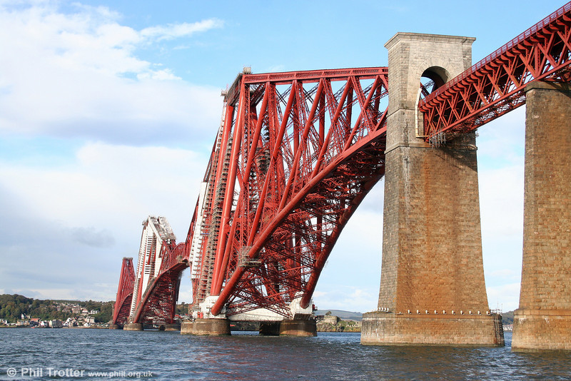 The Forth Bridge has a speed limit of 50 mph for passenger trains and 20mph for freight trains. The weight limit for any train on the bridge is 1,422 tons. The route availability code is RA8. 19th October 2010.