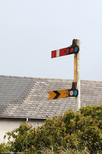 Certainly the most northerly (and remote) semaphore signals in the UK are this set, spotted in a garden at Dunrossness, Shetland and many miles from the nearest railhead! 11th July 2013.