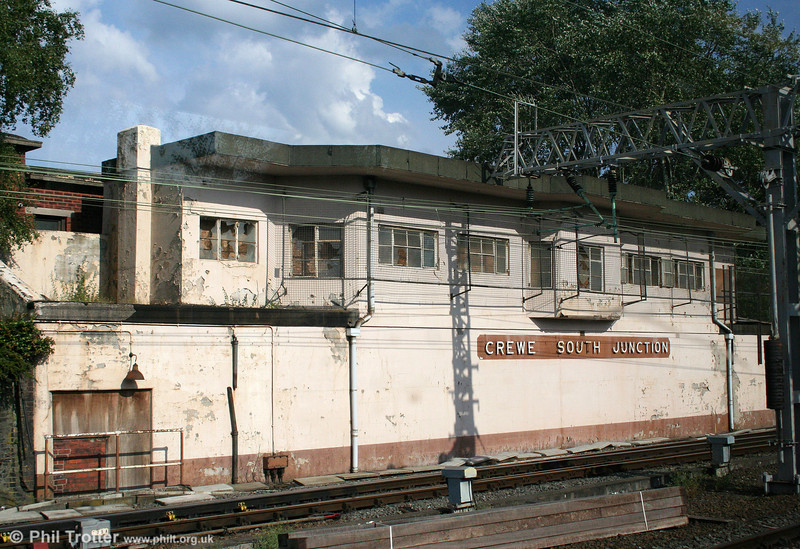 Crewe South Junction signal box was opened on 29th September 1940 by the LMS as part of the resignalling scheme for Crewe Station. The box remained in use until its operation was taken over by Crewe Signalling Centre on 6th June 1985. 3rd August 2011.