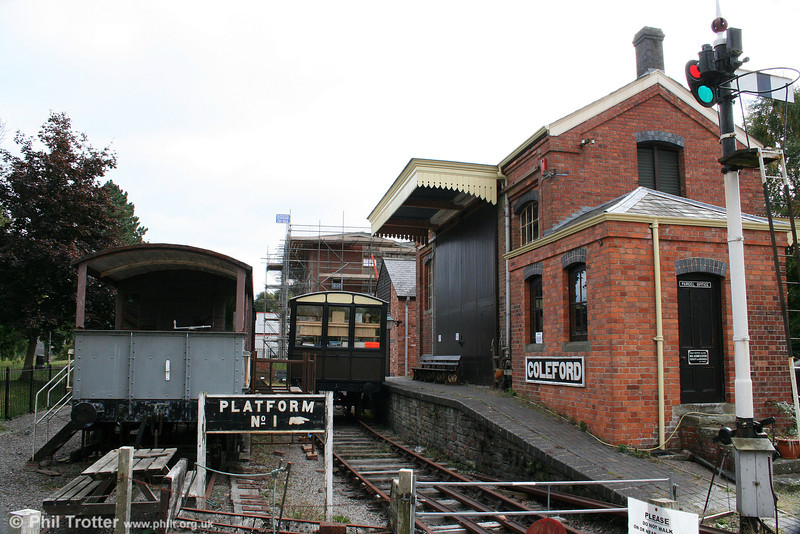The area around Coleford Goods Shed in the Forest of Dean has been developed into a museum, as seen on 26th September 2009.
