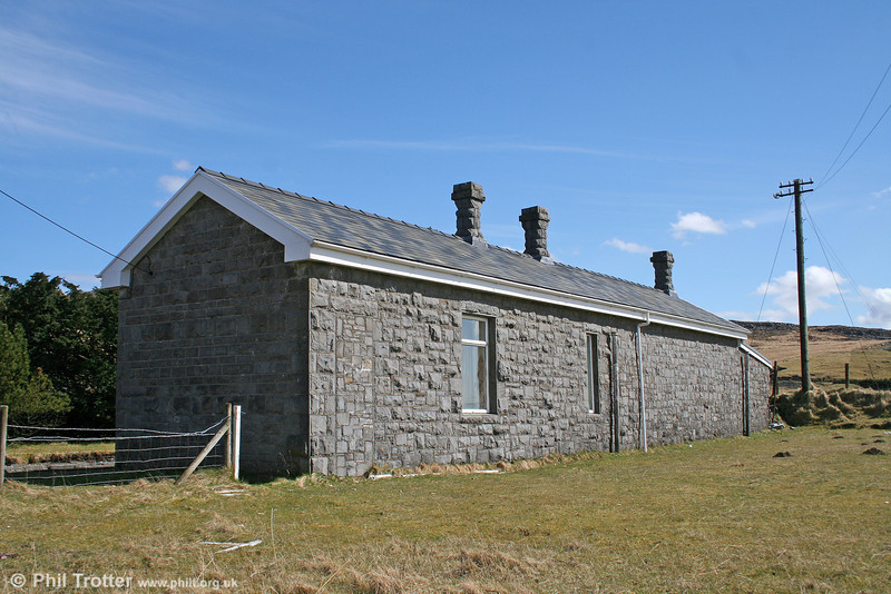 The rear of the substantial station building at Craig y Nos/Penwyllt on 14th April 2006.