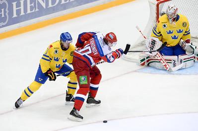 Сборная России провела свой заключительный матч в рамках этапа Евротура Oddset Hockey Games.
