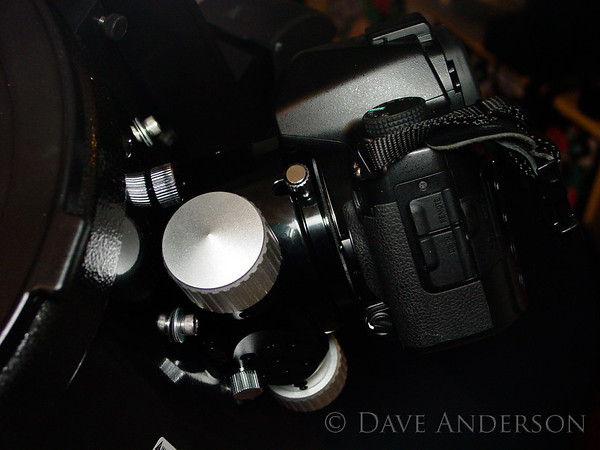 Camera mounted to focuser