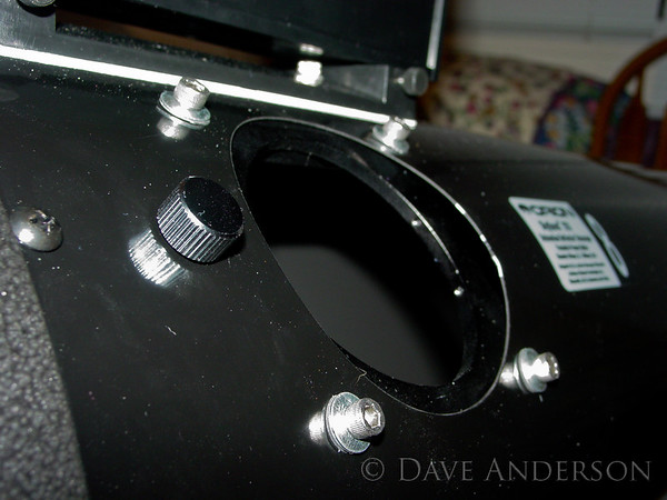 Focuser mounting plate installed