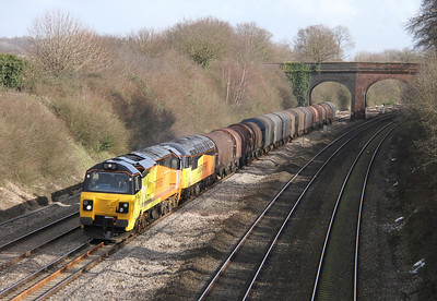 70801 Purley on Thames 26/02/14 6V62 Tilbury to Llanwern with 56078