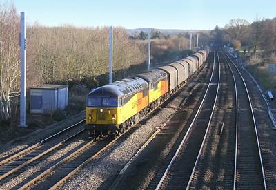56078 Lower Basildon 07/12/14 6V62 Tilbury to Llanwern with 56096
