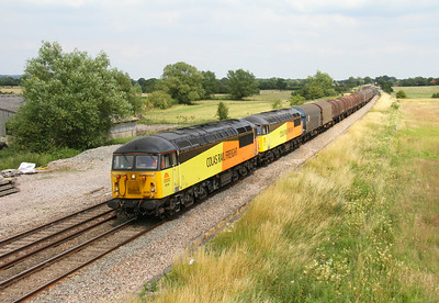 56105 Shrivenham 12/07/14 6V62 Tilbury to Llanwern with 56113 (the sun did the usual disappearing act at the last minute)