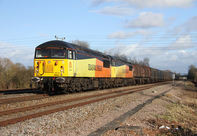 56113 Grove Wick Crossing 15/02/14 6V62 Tilbury to Llanwern with 56094