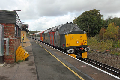 37884 Micheldever 18/10/16 5O86 Ely Papworth Siding to Eastleigh with 2418 and 2420