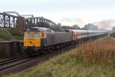 47815 Battledown 14/09/17 5O86 Ely Papworth Sidings to Bournemouth with 2414 and 2418 (it had just finished pouring down a couple of minutes earlier)