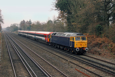 47815 Old Basing 02/12/16 5L46 Eastleigh to Ely Papworth Sidings with 2421