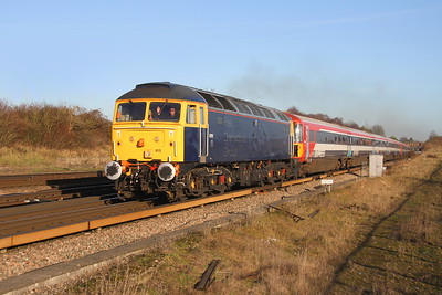 47815 Worting Junction 05/01/17 5O86 Ely to Eastleigh with 2424 and 2405
