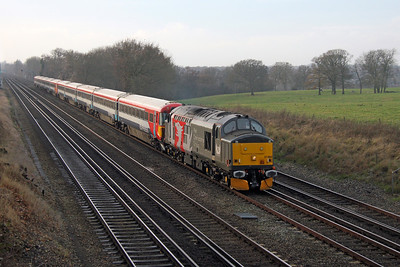37884 Potbridge 09/12/16 5L46 Eastleigh to Ely Papworth Sidings with 2417 and 2401
