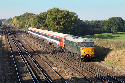 31452 Potbridge 28/10/16 5L46 Eastleigh to Ely Papworth Sidings with 2403