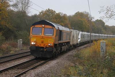 66752 Bayford 15/11/17 6X72 Dollands Moor to Hornsey with 700145