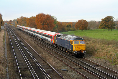 47812 Potbridge 17/11/16 5L46 Eastleigh to Ely Papworth Sidings with 2418 and 2411