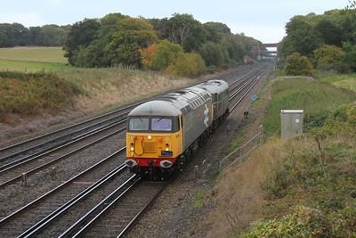 56098 Potbridge 20/10/16 0Z31 Derby RTC to Eastleigh with 31452