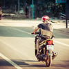 Here's Art from the Peak Design team motoring down the road in Vietnam wearing one of the bag prototypes.  We were trying to see if it would spin around on its own and cause him to crash.  Luckily, it didn't.