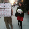 Donated Pizza for protesters, people from all over the world donated $2800. worth of pizza to protesters