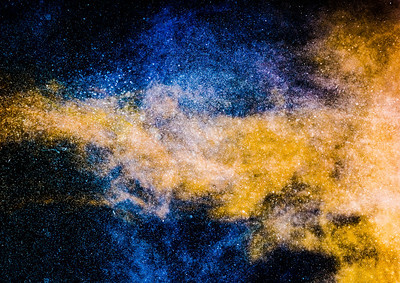 Blue and Gold Galaxy
