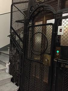 Elevator door. Rome, Italy