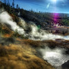 """<h2>Where Geothermal Steam Covers the Land</h2> <br/>Every time I go to Yellowstone, I see something different. There are hundreds of great locations, each one of which should be visited for at least an hour during three different times of the day.<br/><br/>This is a new area I visited on my most recent trip there. I don't think it is always this steamy, since the air temp has to be a certain delta to the water.   I don't know why, but it's always fun to sit there and watch the boiling water.  I don't enjoy watching boiling water in my kitchen, but the sight there is always mesmerizing..   There is also the strong smell of sulfur carried through the area.  It wasn't repulsive at all, but it did give me the just-took-off-my-helmet-on-an-away-mission feeling.<br/><br/>- Trey Ratcliff<br/><br/><a href=""""http://www.stuckincustoms.com/2009/05/09/where-geothermal-steam-covers-the-land/"""" rel=""""nofollow"""">Click here to read the rest of this post at the Stuck in Customs blog.</a>"""