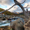 "<h2>The Worst Way to Cross the River</h2> <br/>After we set up camp in a little wooded area, we headed off to see if we could get to one of the glaciers by sunset.  This is near Cerro Torre, a region that is disputed between Argentina and Chile.  I didn't see much of a dispute while I was there -- no armies or anything.  I did see some wayward Guanacas, but I was not sure which side they were on.<br/><br/>I walked along the river until I got to a stopping point, where I got stuck.  I couldn't cross because it was too sketchy, even for me.  So I set up here to prepare for the sunset.  This was shot about two hours prior to the sunset while I was exploring the area.  I'll be sure to edit the other photos soon (ish) and get them up!<br/><br/>- Trey Ratcliff<br/><br/><a href=""http://www.stuckincustoms.com/2009/08/03/the-worst-way-to-cross-the-river/"" rel=""nofollow"">Click here to read the rest of this post at the Stuck in Customs blog.</a>"