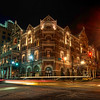 """<h2>The Driskill at Night</h2> <br/>Here is one of the photos that I process on the HDR DVD. <br/><br/>During the Austin Workshop, we had a professional team in place to make sure everything went off without a hitch.  We started the weekend with a long photowalk through the streets of Austin.  I stopped to take a photo of The Driskill hotel, which happened to be the same place we held the actual workshop.  I talked through the shot a little bit and what I was trying to accomplish.<br/><br/>During the actual workshop, I did not process this photo.  But I have since done so, and I recorded the whole session to be on the DVD as well.  It's one of those classic """"problems"""" where there is a lot of ghosting from the car movement.<br/><br/>- Trey Ratcliff<br/><br/><a href=""""http://www.stuckincustoms.com/2010/05/31/the-driskill-at-night/"""" rel=""""nofollow"""">Click here to read the rest of this post at the Stuck in Customs blog.</a>"""