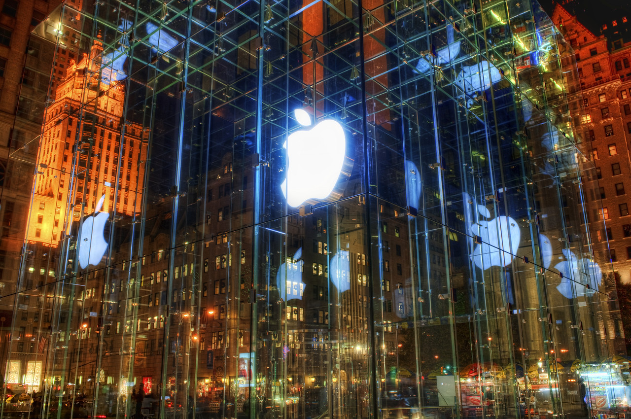 The Incredible Apple Store I think it would be cool to be an architect that could design these kind of things.  These guys are really talented -- I love seeing their crazy concepts come into being.  As opposed to concept cars, which never make it into production, even the most outlandish buildings seem possible.This is one of the Apple Stores in New York City.  The entire thing is a dreamy glass cube with a floating white Apple logo right in the middle.  The actual store is underground.I have a policy about getting help at the Apple store.  When in doubt, talk to the guy with the beard.- Trey RatcliffClick here to read the rest of this post at the Stuck in Customs blog.