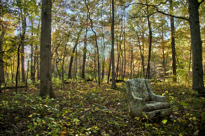 Abandonned chair on the way to Lake Monroe