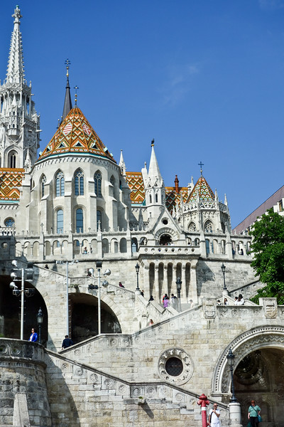 The Fisherman's Bastion & Matthias church on castle hill.