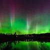 Aurora Pillars over Little Twin Lake