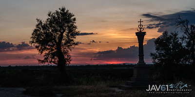 Authentic Camargue cross at sunset-6708