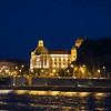 The Hotel Gellert at night