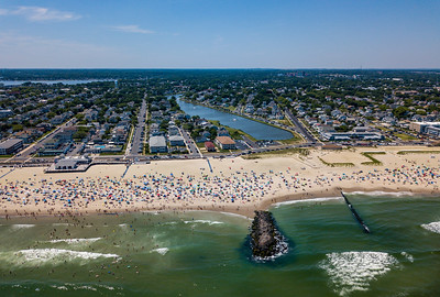 Perfect Beach Day Over Avon-by-the-Sea, Jersey Shore 6/30/18