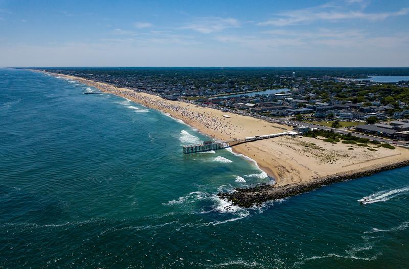 Perfect Beach Day Over Belmar, Jersey Shore 6/30/18
