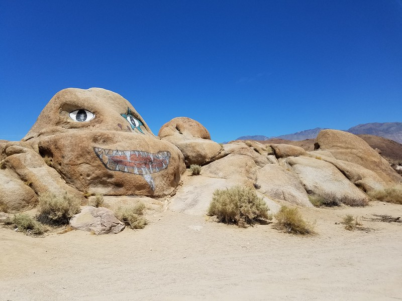 Nightmare Rock in Lone Pine, California