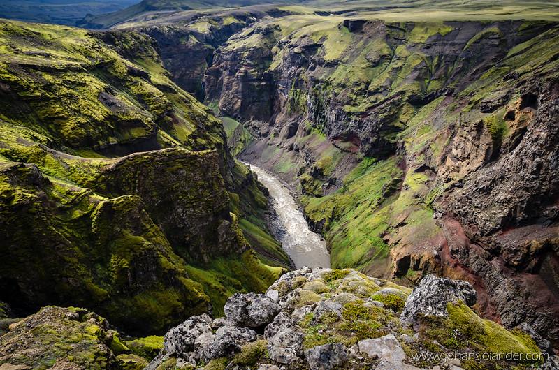 Markarfljot canyon