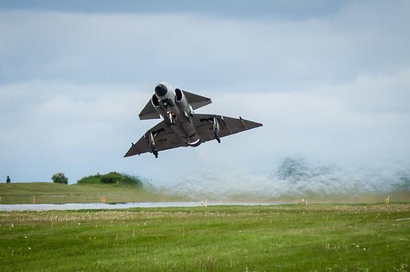 """AJS37 Viggen """"Gustav 52"""" at Malmen Air Base"""